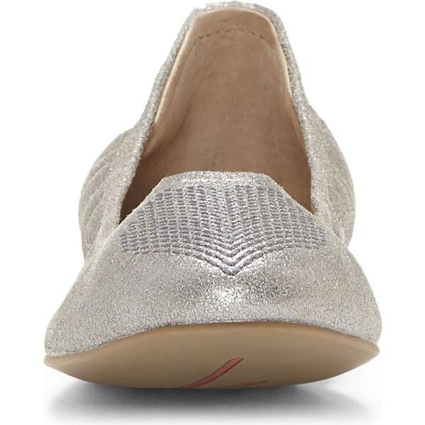 エレン・デジェネレス パンプス シューズ レディース ED Ellen DeGeneres 'Langston' Ballet Flat (Women) Silver Fabric