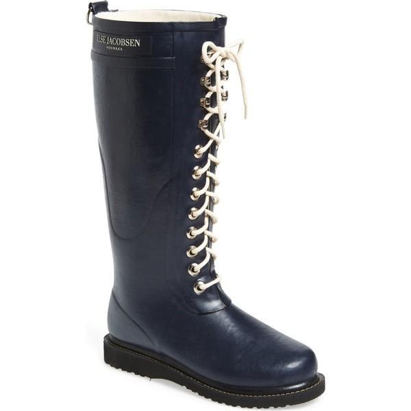 イルセヤコブセン ブーツ&レインブーツ シューズ レディース Ilse Jacobsen Rubber Boot (Women) (Wide Calf) Dark Indigo