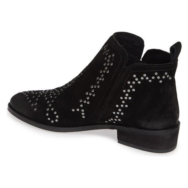 シビッカ ブーツ&レインブーツ シューズ レディース Sbicca Kasara Studded Ankle Bootie (Women) Black Leather