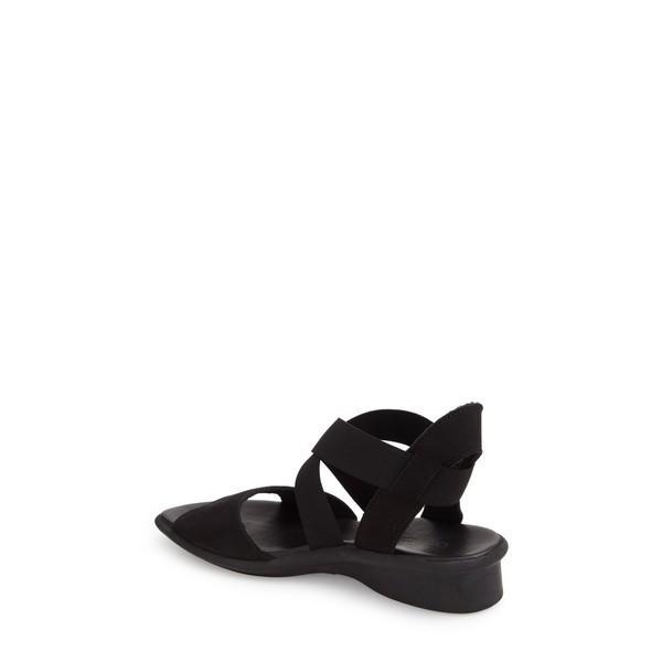 アーク サンダル シューズ レディース Arche 'Satia' Sandal Black Nubuck Leather