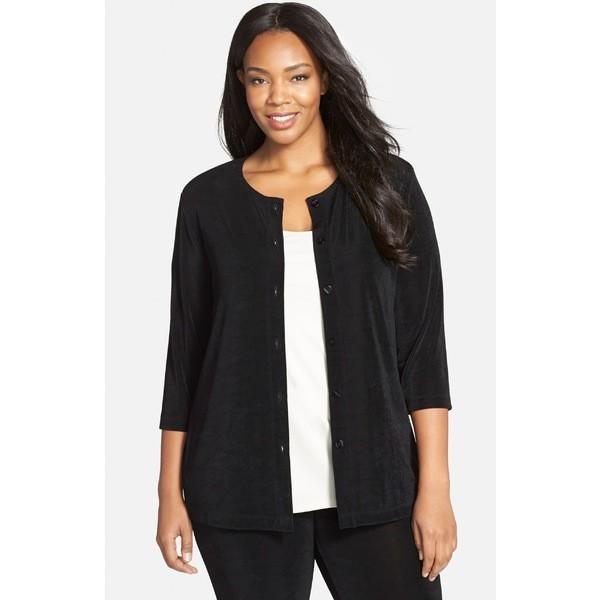 ヴィッキーシックス ニット&セーター アウター レディース Vikki Vi Three-Quarter Sleeve Cardigan (Plus Size) Black