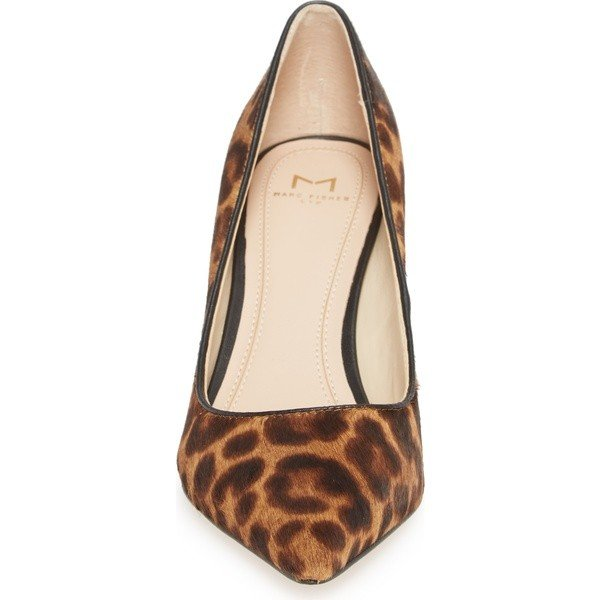 マーク・フィッシャー ヒール シューズ レディース Marc Fisher LTD Zalaly Genuine Calf Hair Pump (Women) Leopard Calf Hair