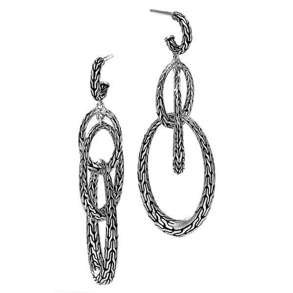 ジョン・ハーディー ピアス&イヤリング アクセサリー レディース John Hardy Classic Chain Drop Earrings Silver