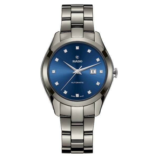 ラド 腕時計 アクセサリー レディース RADO HyperChrome Automatic Diamond Ceramic Bracelet Watch, 36mm Plasma/ Blue/ Plasma