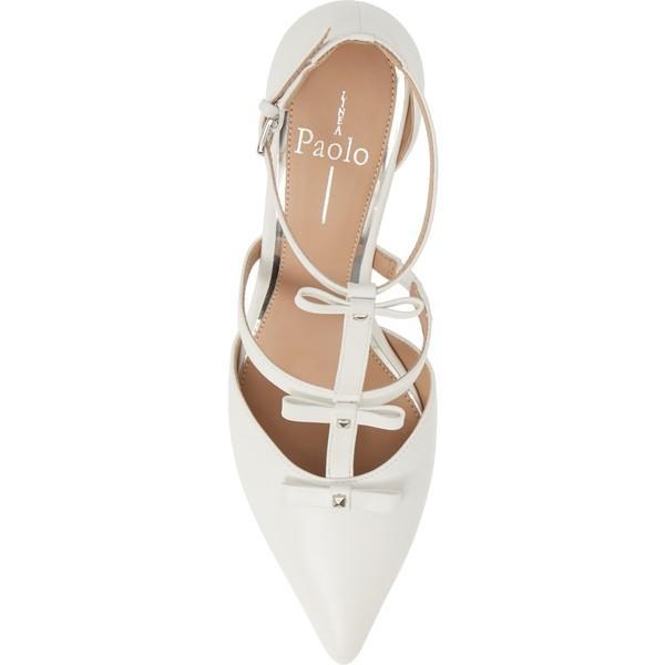 リネアパウロ パンプス シューズ レディース Linea Paolo Calista Strappy Pump (Women) Eggshell Nappa Leather