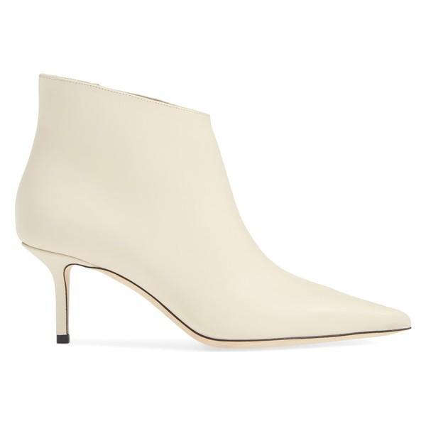 ジミーチュー ブーツ&レインブーツ シューズ レディース Jimmy Choo Marinda Pointy Toe Bootie (Women) Linen