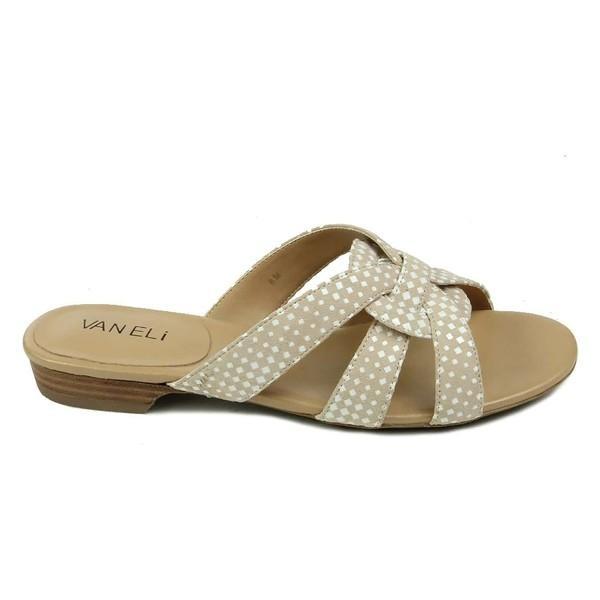 ベネリ サンダル シューズ レディース VANELi Broska Check Slide Sandal (Women) Beige/ White Printed Suede