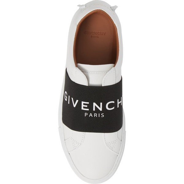 ジバンシー スニーカー シューズ レディース Givenchy Logo Strap Slip-On Sneaker (Women) White