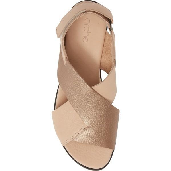 アーク サンダル シューズ レディース Arche Vayest Crisscross Sandal (Women) Nude/ Antico Leather