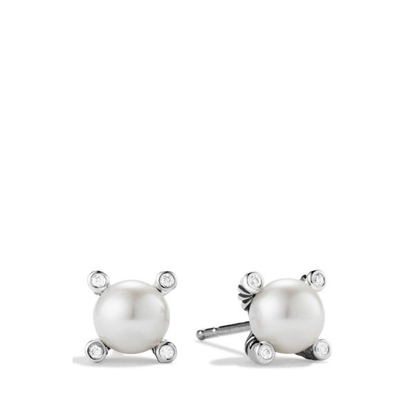 デイビット・ユーマン ピアス&イヤリング レディース David Yurman Small Pearl Earrings with Diamonds Pearl