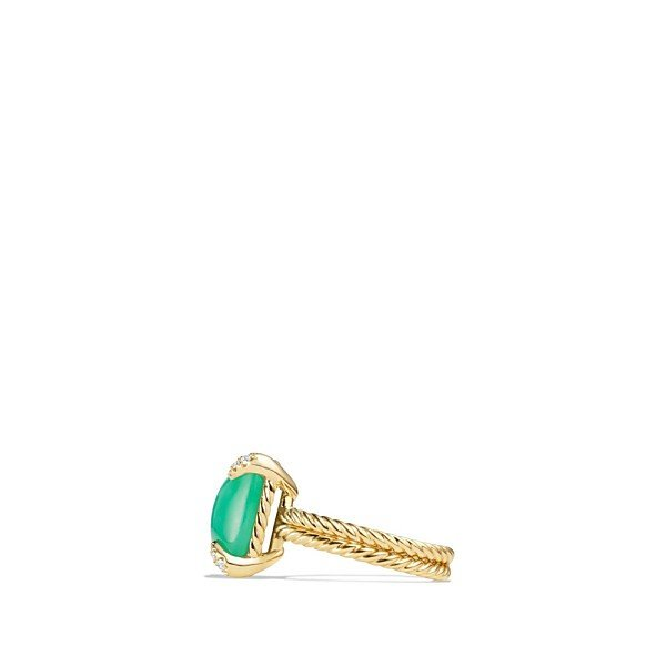 デイビット・ユーマン リング レディース David Yurman 'Chatelaine' Ring with Diamonds Chrysoprase