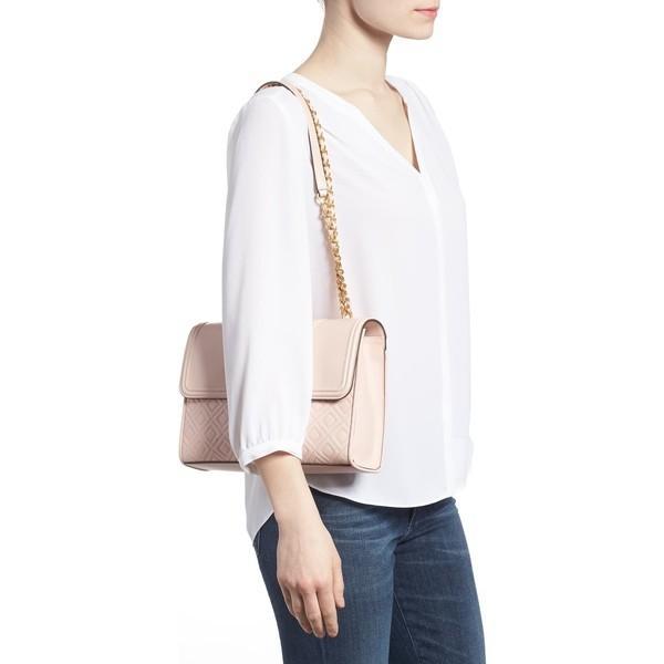 トリーバーチ ショルダーバッグ バッグ レディース Tory Burch Fleming Leather Convertible Shoulder Bag Shell Pink