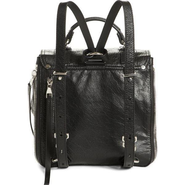 プロエンザショラー ハンドバッグ バッグ レディース Proenza Schouler PS1 Leather Convertible Backpack Black