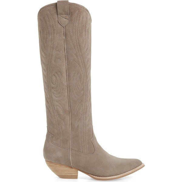 ジェフリー キャンベル ブーツ&レインブーツ シューズ レディース Jeffrey Campbell Calvera Knee-High Boot (Women) Dark Taupe Suede
