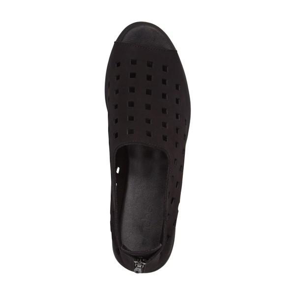 アーク サンダル シューズ レディース Arche 'Drick' Flat Noir Nubuck Leather