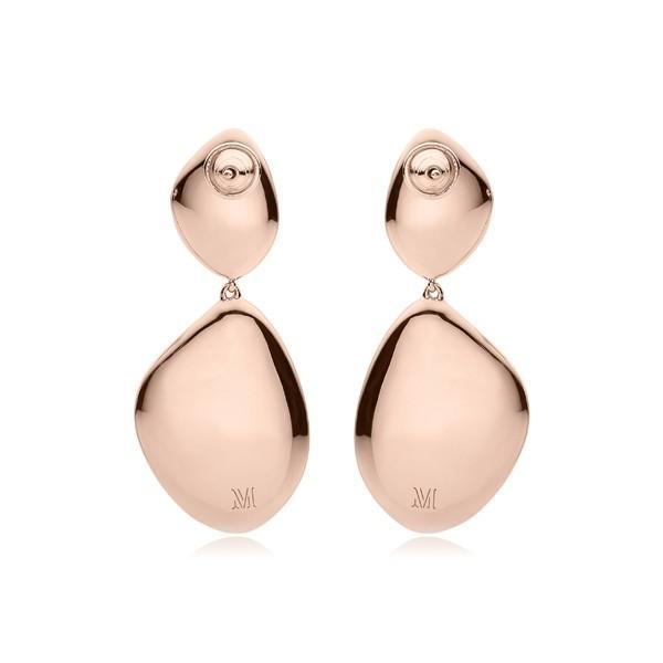 モニカヴィナダー ピアス&イヤリング アクセサリー レディース Monica Vinader Nura Double Teardrop Earrings with Diamonds Rose Gold