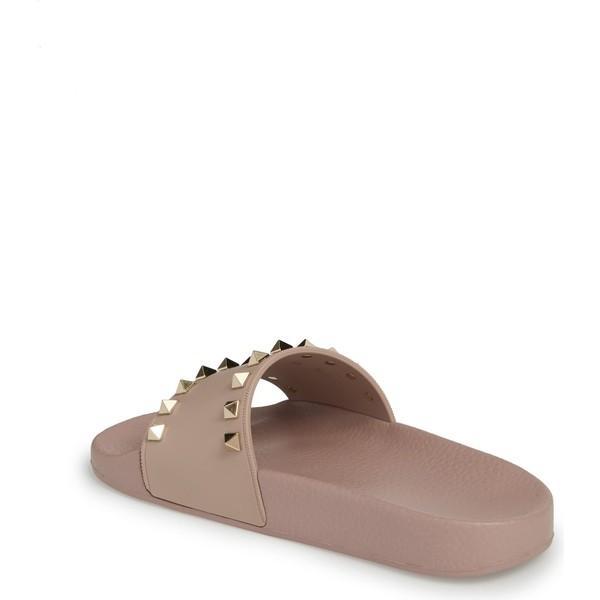 ヴァレンティノ ガラヴァーニ サンダル シューズ レディース VALENTINO GARAVANI Rockstud Slide Sandal (Women) Beige