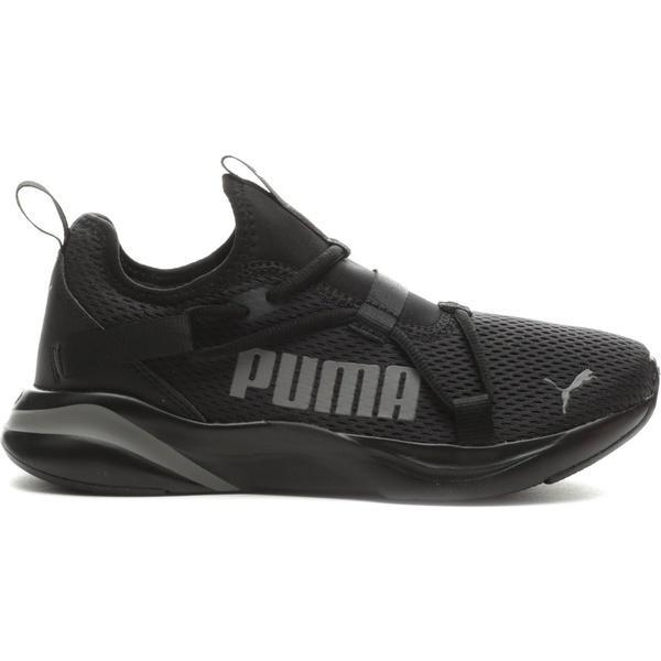 プーマ シューズ メンズ ランニング PUMA Men's SOFTRIDE Rift Bold Slip-On Running Shoes Black/Gray 01