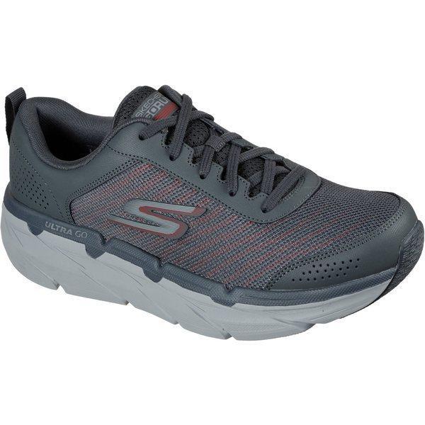 スケッチャーズ シューズ メンズ ランニング SKECHERS Men's Max Cushioning Premier Paragon Shoes Gray Dark 01
