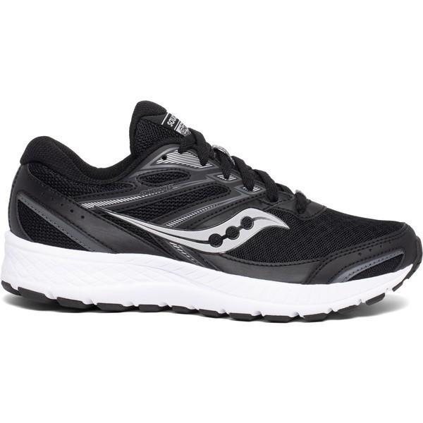 サッカニー シューズ レディース ランニング Saucony Women's Cohesion 13 Running Shoes Black/White 01