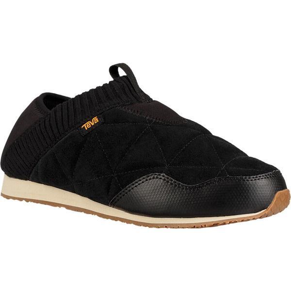 テバ スニーカー シューズ レディース Women's Teva Ember Moc Toe Sneaker Black Suede