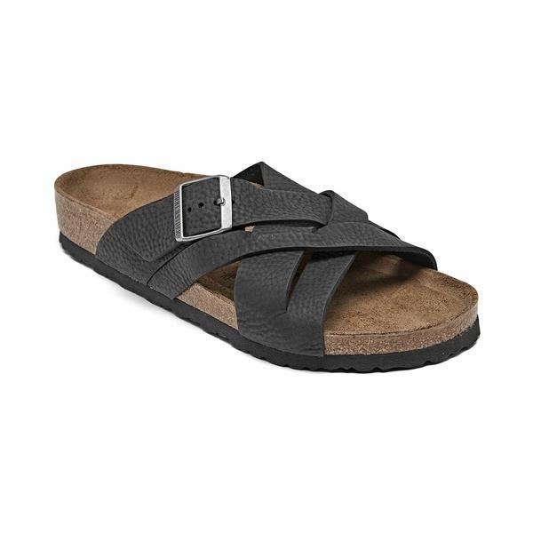 ビルケンシュトック サンダル シューズ メンズ Men's Lugano Oiled Leather Sandals from Finish Line Black