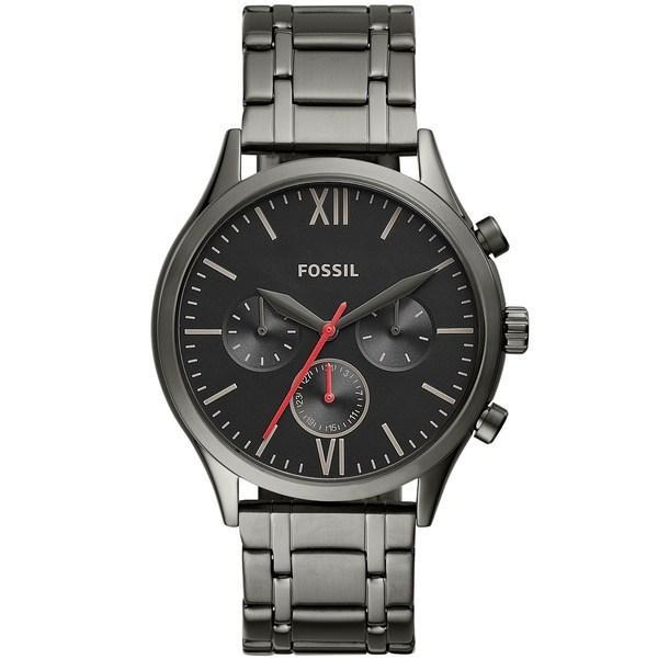 フォッシル ブレスレット・バングル・アンクレット アクセサリー メンズ Men's Fenmore Multifunction Gunmetal Gray Bracelet Watch 44mm Gray