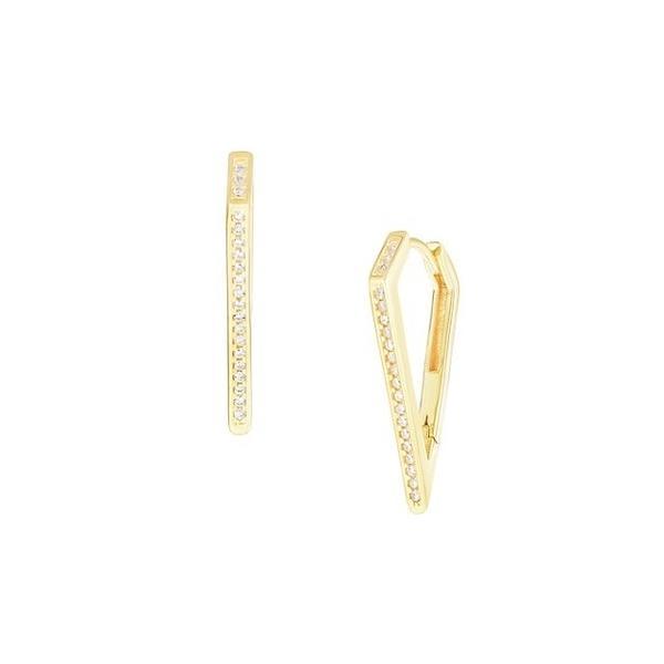 クロエアンドマディソン ピアス&イヤリング アクセサリー レディース 14K Gold Vermeil & Cubic Zirconia Dagger Hoop Earrings 0