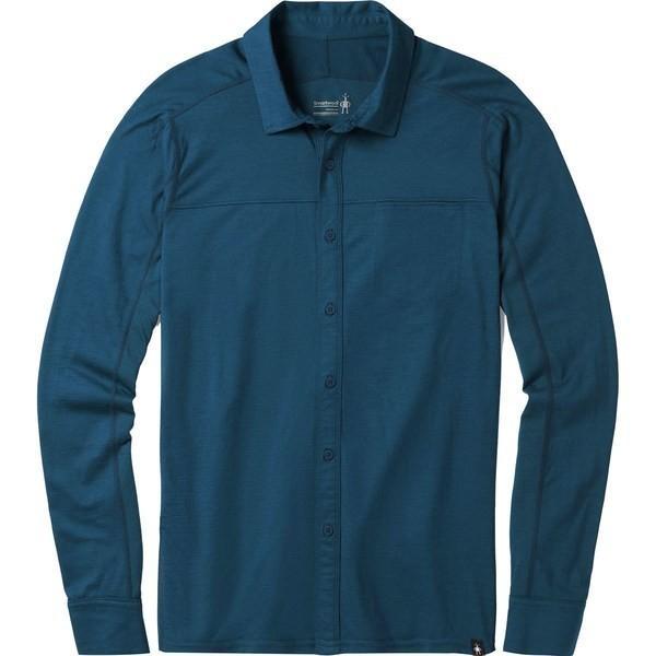 スマートウール シャツ メンズ トップス Merino Sport 150 Long-Sleeve Button-Down Shirt - Men's Alpine Blue|astyshop