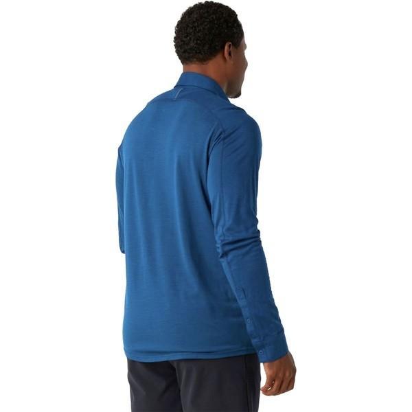 スマートウール シャツ メンズ トップス Merino Sport 150 Long-Sleeve Button-Down Shirt - Men's Alpine Blue|astyshop|03
