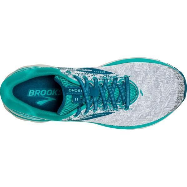 ブルックス スニーカー シューズ レディース Brooks Women's Ghost 11 Running Shoes WhiteGreyTeal