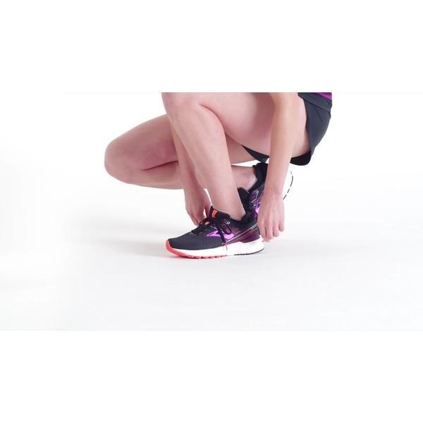 ブルックス スニーカー シューズ レディース Brooks Women's Adrenaline GTS 19 Running Shoes BlackPurpleGray