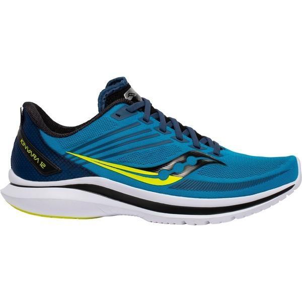 サッカニー シューズ メンズ ランニング Saucony Men's Kinvara 12 Running Shoes Blue/Citron