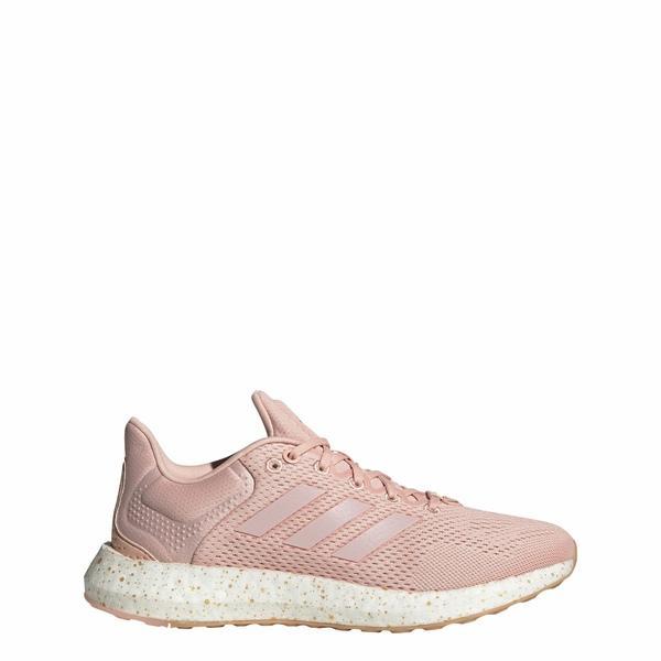 アディダス シューズ レディース ランニング adidas Women's Pureboost 21 Running Shoes Pink/Gold