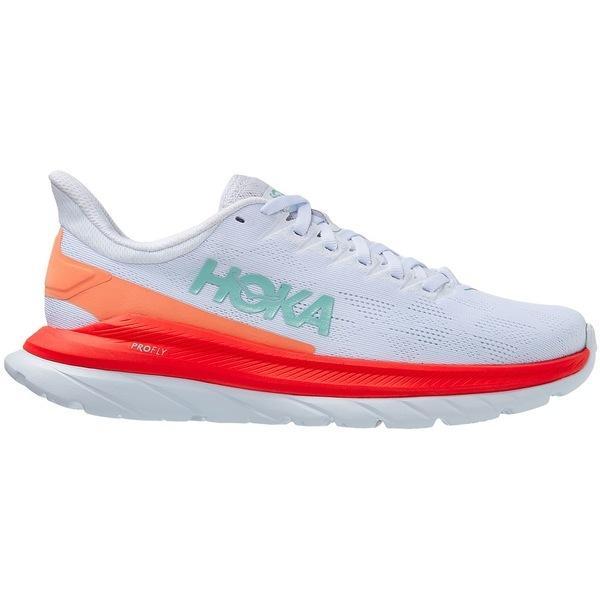 ホッカオネオネ シューズ レディース ランニング HOKA ONE ONE Women's Mach 4 Running Shoes White/Orange