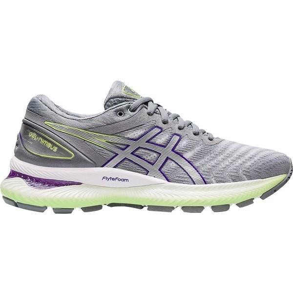 アシックス シューズ レディース ランニング ASICS Women's GEL-Nimbus 22 Running Shoes Grey/Green