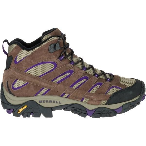 メレル ブーツ&レインブーツ シューズ レディース Merrell Women's Moab 2 Ventilator Mid Hiking Boots BrackenPurple