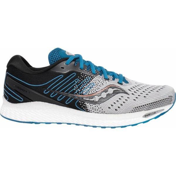 サッカニー シューズ メンズ ランニング Saucony Men's Freedom 3 Running Shoes Grey/Blue