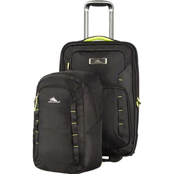 ハイシエラ バックパック・リュックサック バッグ メンズ High Sierra AT8 Wheeled Duffle With Pack N Go Backpack BlackZest