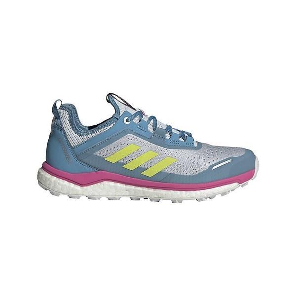 アディダス シューズ レディース ランニング Adidas Women's Terrex Agravic Flow Shoe Hazy Blue / Hi Res Yellow / Crystal White
