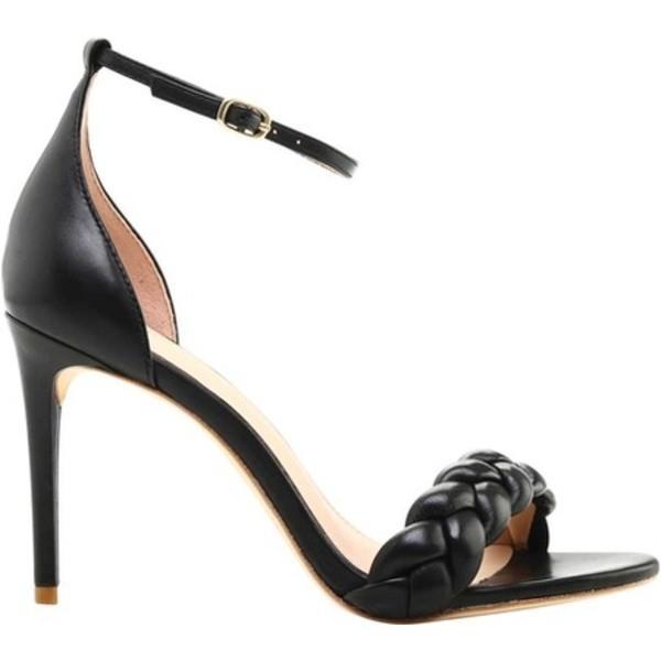 レイチェル ゾー レディース ヒール シューズ Ashton Braided Nappa Leather Ankle Strap Sandal Black Nappa