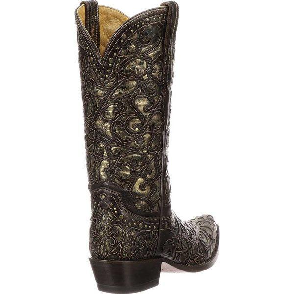 ルケーシー レディース ブーツ&レインブーツ シューズ M4842 S5 Toe Cowboy Boot Espresso Cowhide