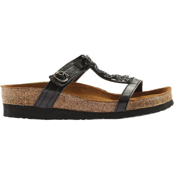 ナオト レディース サンダル シューズ Malibu Black Madras Leather