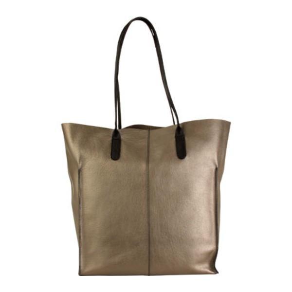 ハダキ レディース ハンドバッグ バッグ Market Tote Handbag Bronze/Black Trim