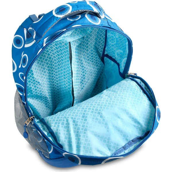 """ジェイワールド レディース バックパック・リュックサック バッグ Sunrise 18"""" Rolling Backpack Blue Target"""
