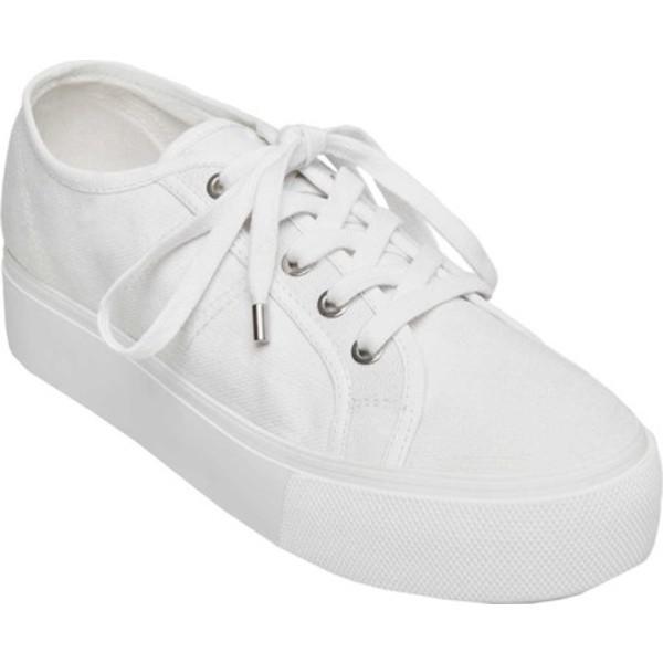 スティーブ マデン レディース スニーカー シューズ Emmi Platform Sneaker White Canvas