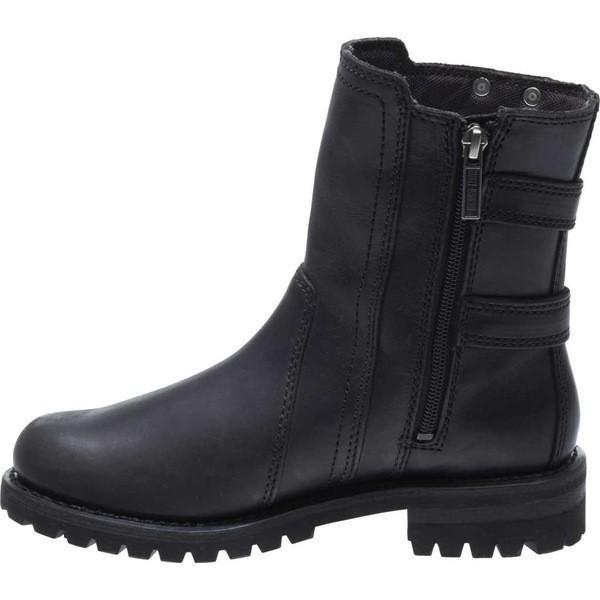 ハーレーダビッドソン レディース ブーツ&レインブーツ シューズ Fillon Motorcycle Boot Black Full Grain Leather