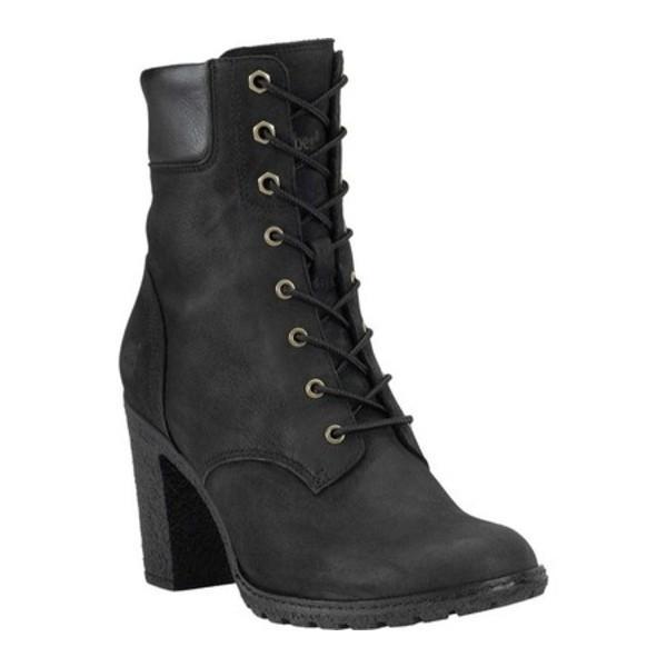 """ティンバーランド レディース ブーツ&レインブーツ シューズ Earthkeepers Glancy 6"""" Boot Black Leather"""