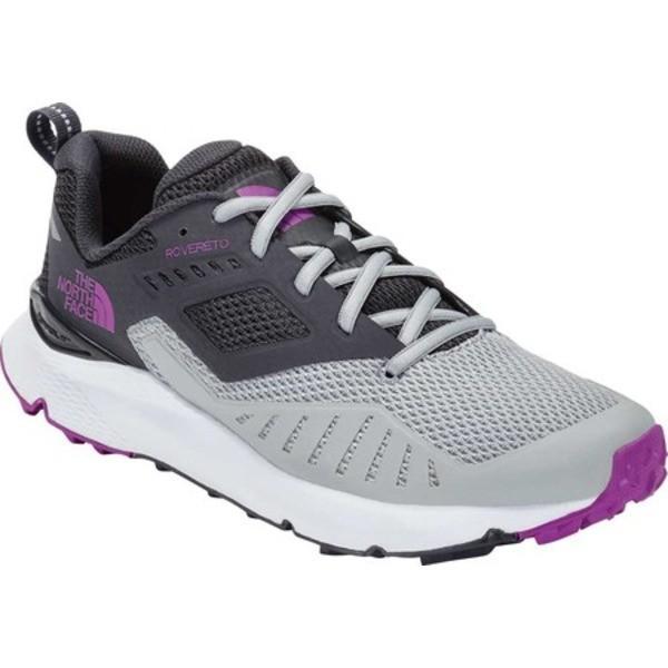 ノースフェイス レディース スニーカー シューズ Rovereto Sneaker High Rise Grey/Purple Cactus Flower