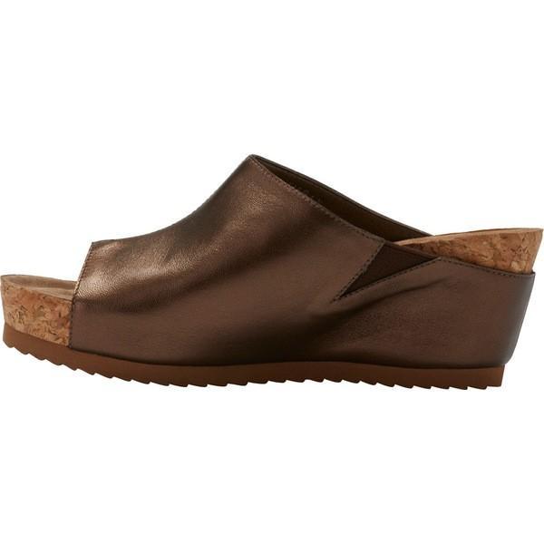 ウォーキング クレイドル レディース サンダル シューズ Tiegan Wedge Slide Sandal New Copper Mestico Leather